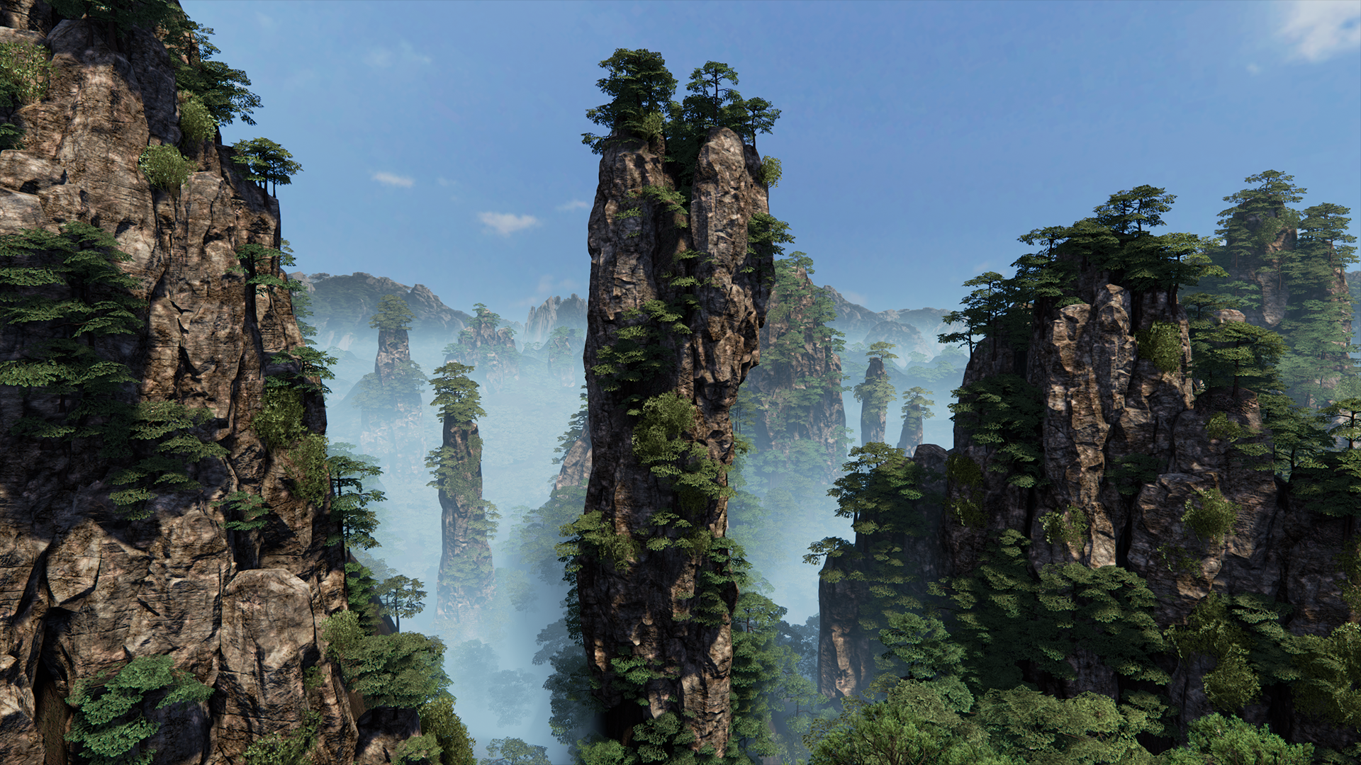 Huangshan Mountains UE4 — polycount